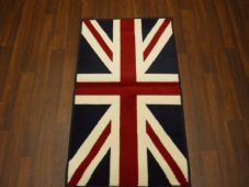 Novelty Aprox 4x2 60cmx110cm Union Jack New Rugs Woven Backed Red/White/blue Mat